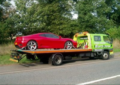 Eurotow with Ferrari on the loader